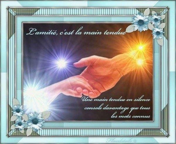 l'amitié c'est la main tendue......................