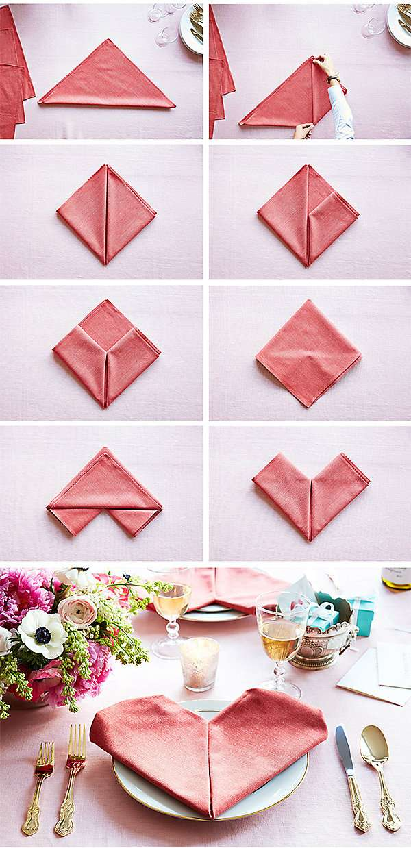 Pliages de serviettes tuto - Plier serviette table ...